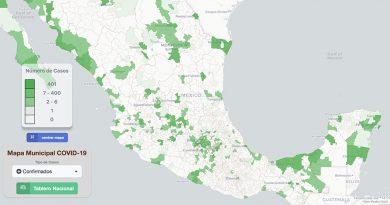 Mapa Interactivo Coronavirus México