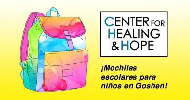 El Center for Healing and Hope repartirá mochilas escolares para niños en Goshen