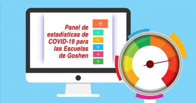 Panel de estadísticas de COVID-19 para las Escuelas de Goshen