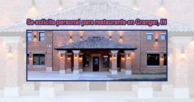 Se solicita personal para restaurante en Granger, IN