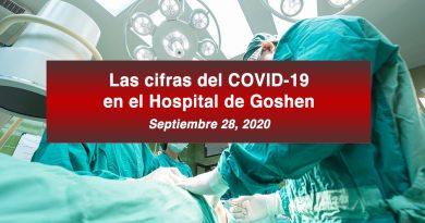 Las cifras del COVID-19 en el Hospital de Goshen