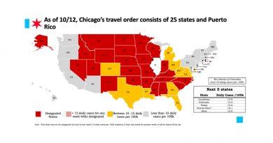 Chicago ordena a las personas de Indiana y Wisconsin guardar cuarentena por dos semanas al llegar a la ciudad