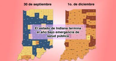 El estado de Indiana termina el año bajo emergencia de salud pública
