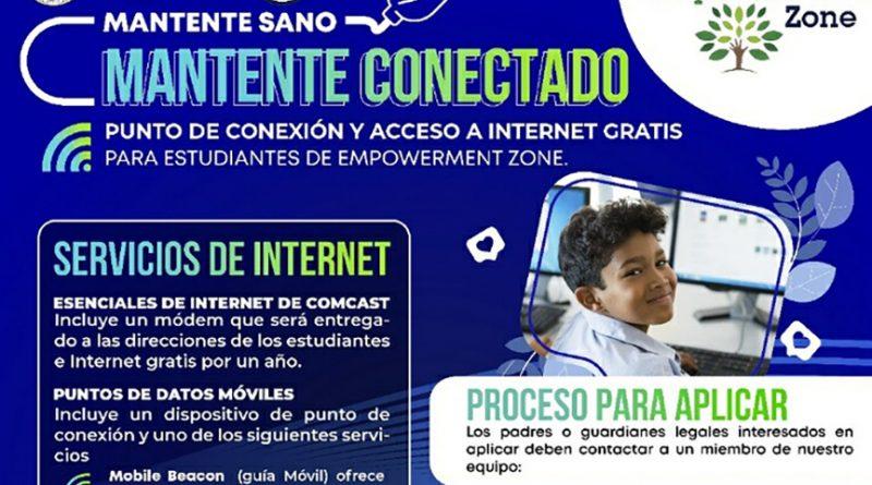 Hay puntos de conexión y acceso a internet gratis para la ciudad de South Bend.