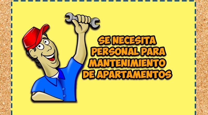 Se necesita personal para mantenimiento de apartamentos