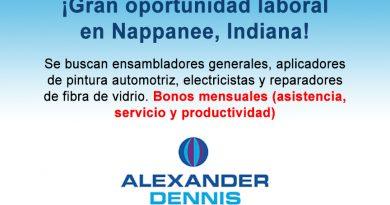 ¡Gran oportunidad laboral en Nappanee, Indiana!
