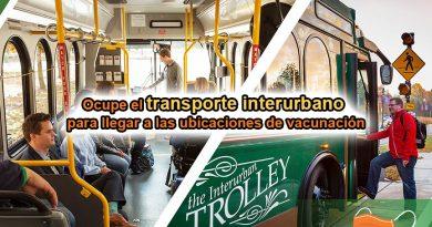 Ocupe el transporte interurbano para llegar a las ubicaciones de vacunación