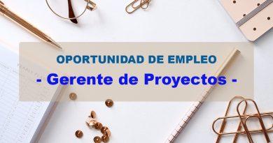 OPORTUNIDAD DE EMPLEO - Gerente de Proyectos